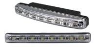 Светодиодные лампы для автомобилей DRL-1 Корпус: пластик Мощность: 8 LED/ 0,2W Размер, мм: 155х18