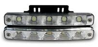 Светодиодные лампы для автомобилей DRL-5 Корпус: алюминий Мощность: 5 LED/ 1W Размер, мм: 187х28