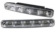Светодиодные лампы для автомобилей DRL-6 Корпус: пластик Мощность: 5 LED/ 0,25W Размер, мм: 187х28