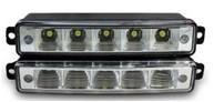 Светодиодные лампы для автомобилей DRL-7 Корпус: алюминий Мощность: 5 LED/ 1W Размер, мм: 150х28