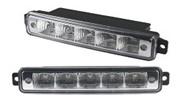 Светодиодные лампы для автомобилей DRL-8 Корпус: пластик Мощность: 5 LED/ 0,25W Размер, мм: 150х28