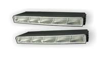 Светодиодные лампы для автомобилей DRL-9 Корпус: пластик Мощность: 5 LED/ 0,5W Размер, мм: 220х31