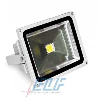 Светодиодные прожекторы ELF, мощность 30 Вт, яркость - 2000 люмен, в герметичном алюминиевом корпусе.
