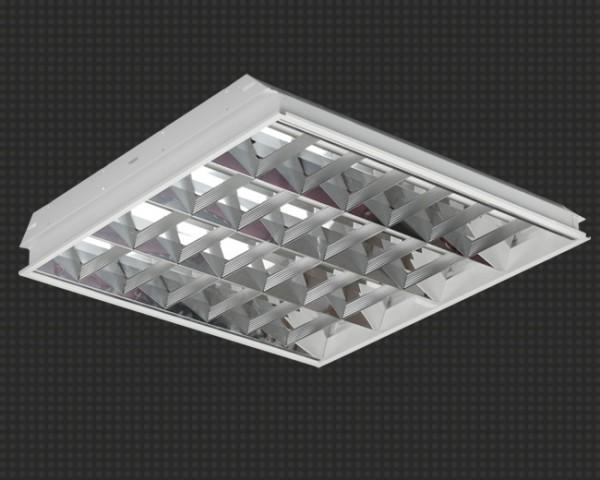 Светодиодный офисный светильник, встраиваемый, растровый, 19Вт, аналог ЛПО4*18, 2600Лм,594*594мм Гарантия -3года