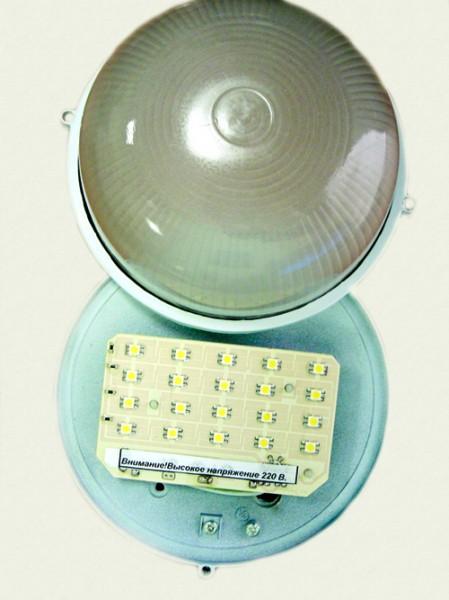 Светодиодный подъездный светильник led жкх СИД20-220SMD, аналог по 55Вт-ой лампе накал. потребление 4,5 Вт.