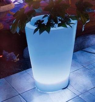 Светодиодный светильник Ваза-большая для улицы D305x380мм.18 RGB светодиоды 220В, пульт управ цвет.