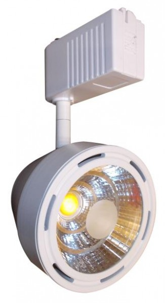 Светодиодный трековый прожектор 28Вт 5000К бел. корпус