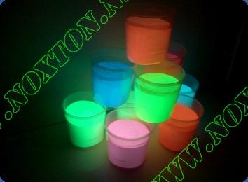 Светящаяся краска для пластмассы и ПВХ. Расход светящейся краски: до 14 м2 /л. в 1 слой