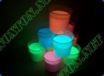 Светящаяся краска для сувенирной продукции. Расход светящейся краски: до 14 м2 /л. в 1 слой
