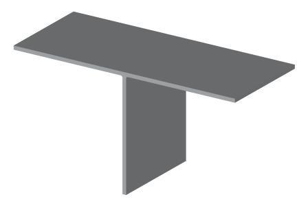Т-образный профиль (тавр) 80х50х2 (направляющий фасадный профиль)