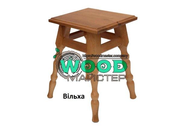 Фото 1 Табурет кухонный деревянный КЛАССИК с твердым сиденьем 340034