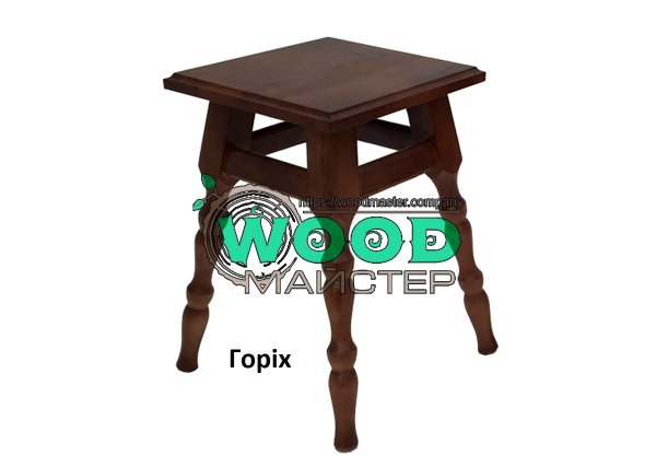 Фото 2 Табурет кухонный деревянный КЛАССИК с твердым сиденьем 340034