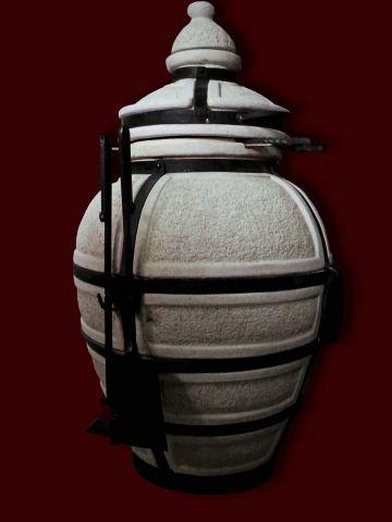 """Тандыр переносной керамический """"Сармат Большой"""". Служит для готовки еды и украшением сада или дворика."""