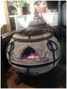 """Тандыр переносной керамический """"Восточный&quot ;. Служит для использования в ресторанной кухне, кафе."""