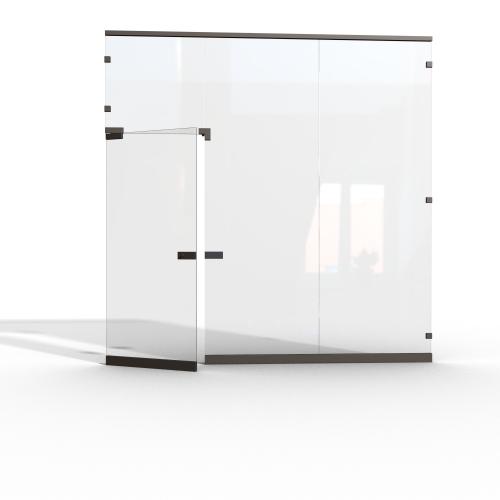 Цельностеклянные (безрамные) перегородки из безопасного стекла