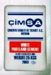 Цемент білий CIMSA марка I 52.5 N Туреччина паперові мішки 25кг 64 мішка на палетто ціна оптова