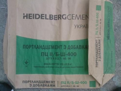 Цемент Хайделберг ПЦ ІІ/ Б-Ш-400 навал, тара евро-упаковка оптом