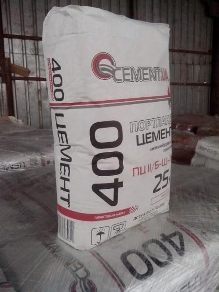 Цемент марка 400ПЦ, фасованный, 25кг мешок, доставка по Киеву и Области.