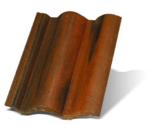 Цементно-песчаная черепица Рустик (цвет Коппо Одон)