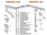 Цены на водосточную систему PROFiL (система90/75) Гарантия 10лет!