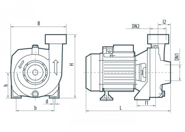 Центробежный насос Sprut HPF 550