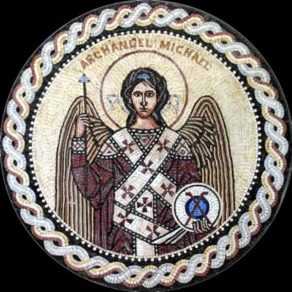 Церковна мозаїка з мармуру