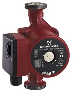 Циркуляционные насосы GRUNDFOS UPS, UP серии 100 с мокрым ротором. UP серии 100 25-80 180
