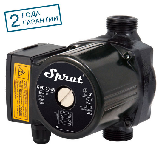 Циркуляционный насос SPRUT GPD 20/4S-130 гайка