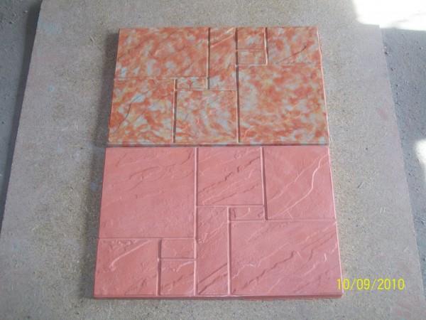 Цокольная 4 шт. на 1 кв. м размер 60,0*40,0 толщина 2.5 см цвета:желтый, черный, красный, коричневый, серый и мрамор