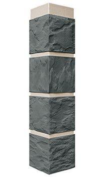 Цокольный сайдинг Угол Камень Серо-зеленый 470*115 мм