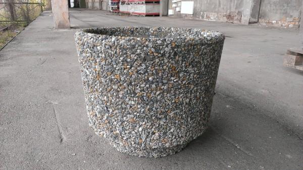 Цветник бетонный, круглый, материал отделки - гранитная крошка. Размеры: 400х260 20 кг 500х400 50 кг