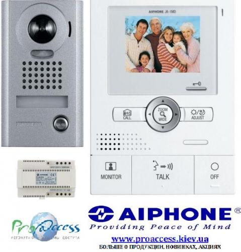 Цветной видеодомофон для коттеджей с углом обзора 170*