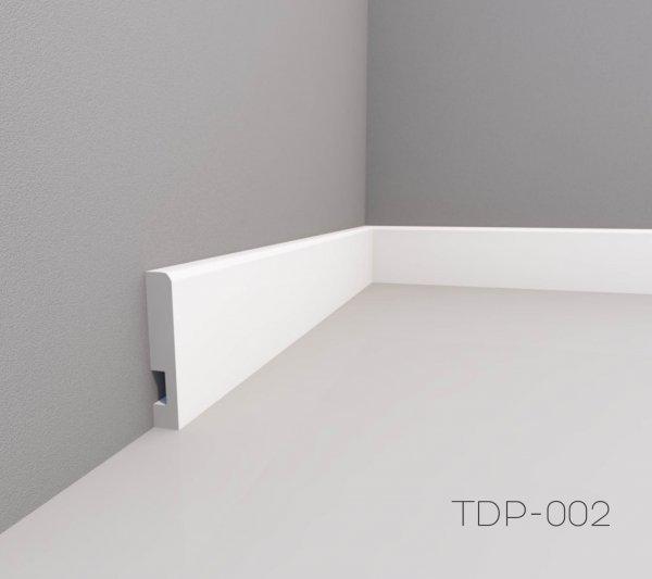 Фото  1 Плінтус підлоговий фарбований МДФ 16х70 мм 2 м 169024