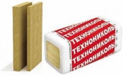 Техноблок стандарт базальтовая тепло- и звукоизоляция. Плотность 45 кг/м3. Размер, мм:1200х600х50. Упак.8,64кв. м.