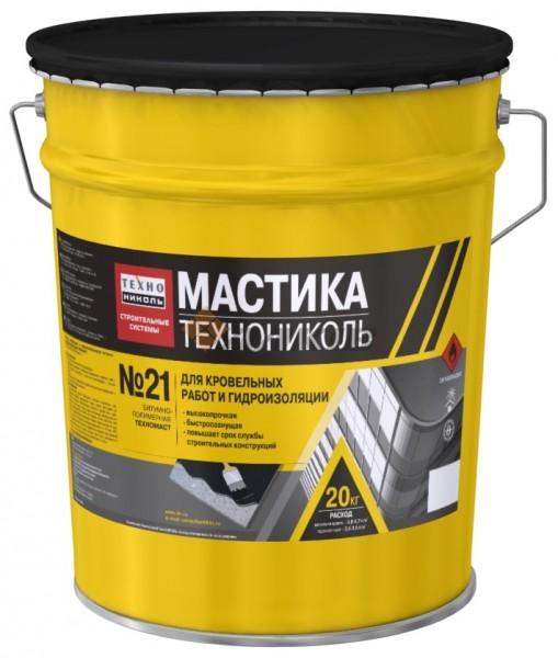 ТЕХНОМАСТ ТН №21 полімерно-бітумна мастика для ремонту і влаштування нових покрівель