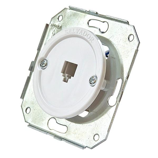 Телефонная розетка для внутреннего монтажа ретро электрика