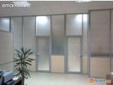 Алюминиевые перегородки офисные, стационарные
