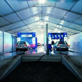 Тентовые металоконструкции для СТО,моек, автосалонов,шириной от 3м до 60м и неограниченной длиной Цена 1 кв.м.