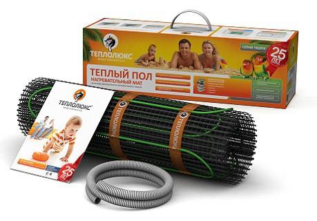 Теплый пол двужильные нагревательные маты Теплолюкс Tropix 200 МНН1300-6,5 м2