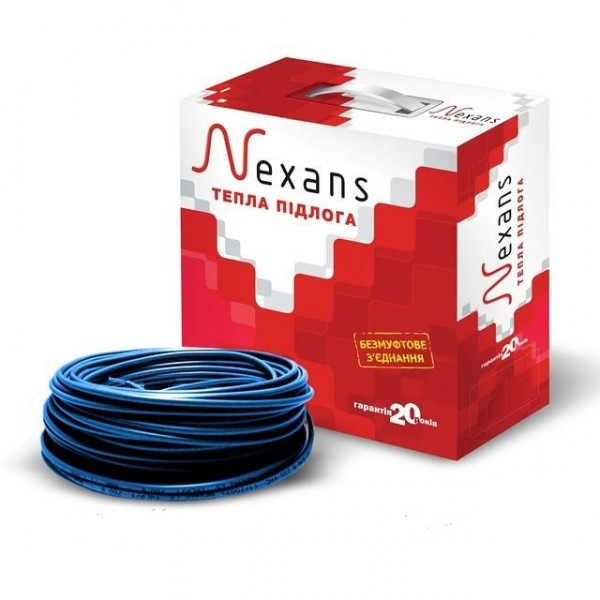 Теплый пол электрический одножильный нагревательный кабель Nexans TXLP/1,  1250/17  (1,147 кВт) 73,5 м