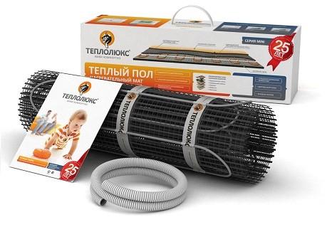 Теплый пол одножильные нагревательные маты Теплолюкс Mini МН250-1,8 м2