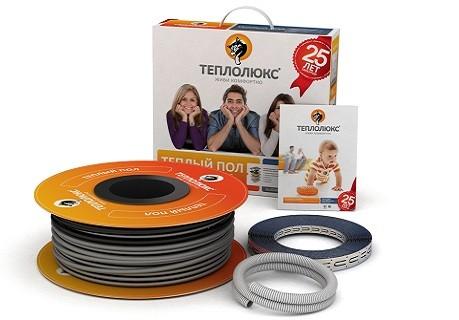 Теплый пол одножильный нагревательный кабель Теплолюкс 18ТЛОЭ2-18 (0,27кВт)