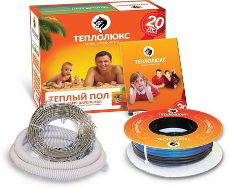 Теплый пол Теплолюкс на основе двужильного нагревательного кабеля 18ТЛБЭ2 - 23 (0,42 кВт)