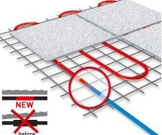 Теплый пол. Нагревательный мат DH 0,45 м. кв. 67,5W ширина 0,3м