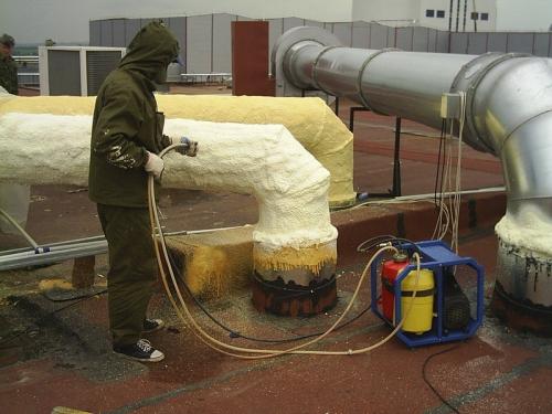 Теплоизоляция ПЕНОПОЛИУРЕТАНОМ трубопроводов