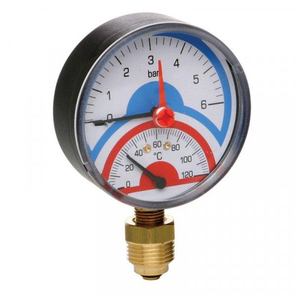 Фото  1 термоманометр рад.с зап.клап 1/2(0-4бар)Icma №258 2013185