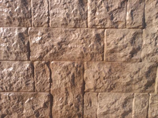 термопанель:римская кладка размер:100см х 50см толщина пенополистирола 30мм-100мм