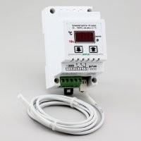 Терморегулятор ( датчик DS18B20) корпус на DIN-рейку РТ-16/D01 (16А/3кВт) шаг регулировки 0,1С (нагрев)