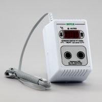 Терморегулятор (датчик DS18B20) в корпусе переходника на 1 розетку РТ-10/П01 (10А/2,2кВт) шаг регулировки 0,1С