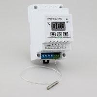 Терморегулятор ( датчик Pt100) корпусе на DIN-рейку РТ-10/2D1 (10А/3кВт) шаг регулировки 1С (нагрев, охлаждение)